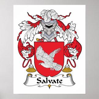 Escudo de la familia de Salvate Póster