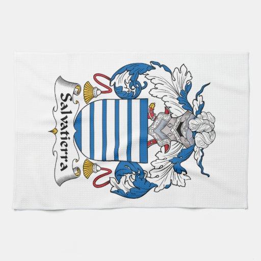 Escudo de la familia de Salvatierra Toalla De Mano