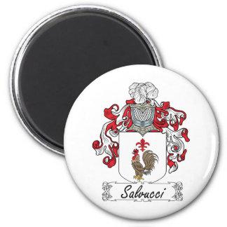 Escudo de la familia de Salvucci Imán Redondo 5 Cm