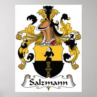 Escudo de la familia de Salzmann Posters