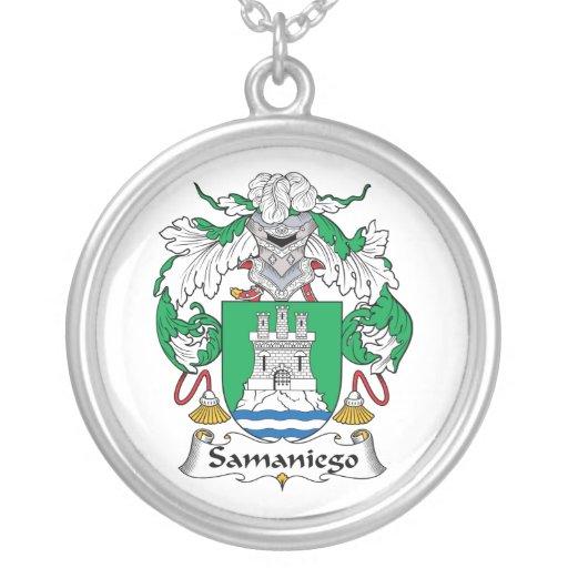 Escudo de la familia de Samaniego Colgante Redondo
