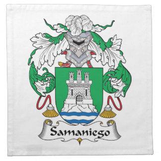 Escudo de la familia de Samaniego Servilleta De Papel