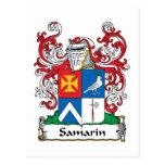 Escudo de la familia de Samarin Postales