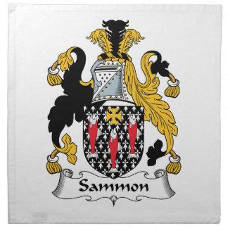 Escudo de la familia de Sammon Servilletas De Papel