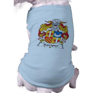 Escudo de la familia de Samper Playera Sin Mangas Para Perro