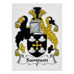 Escudo de la familia de Sampson Poster