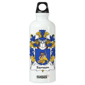 Escudo de la familia de Samson Botella De Agua De Aluminio