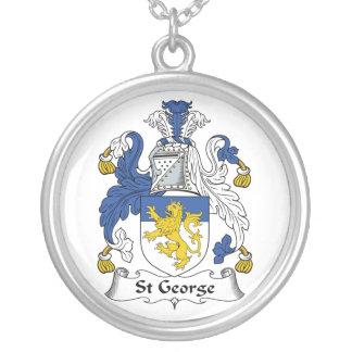 Escudo de la familia de San Jorge Colgante Redondo