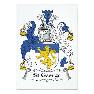 """Escudo de la familia de San Jorge Invitación 5"""" X 7"""""""