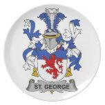 Escudo de la familia de San Jorge Plato