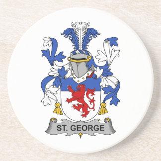 Escudo de la familia de San Jorge Posavasos Personalizados