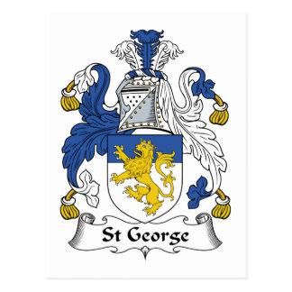 Escudo de la familia de San Jorge Tarjetas Postales