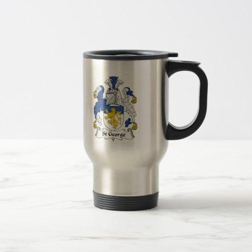 Escudo de la familia de San Jorge Tazas De Café