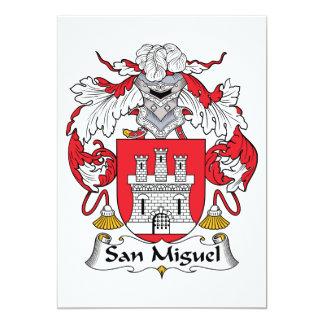"""Escudo de la familia de San Miguel Invitación 5"""" X 7"""""""