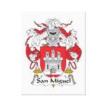Escudo de la familia de San Miguel Lona Estirada Galerias