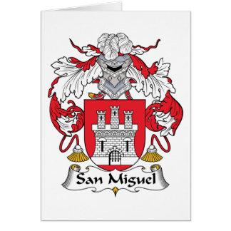 Escudo de la familia de San Miguel Tarjeta De Felicitación