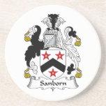 Escudo de la familia de Sanborn Posavaso Para Bebida