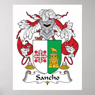 Escudo de la familia de Sancho Póster