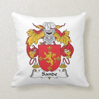 Escudo de la familia de Sande Cojín