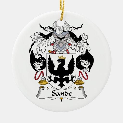 Escudo de la familia de Sande Ornamentos De Navidad