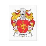 Escudo de la familia de Sande Impresión En Lona