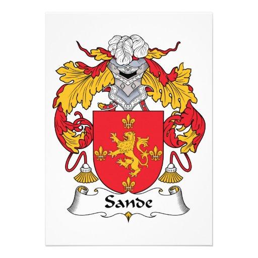 Escudo de la familia de Sande Invitaciones Personales