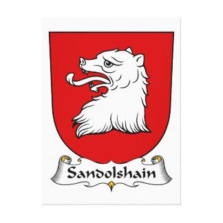 Escudo de la familia de Sandolshain Impresion En Lona