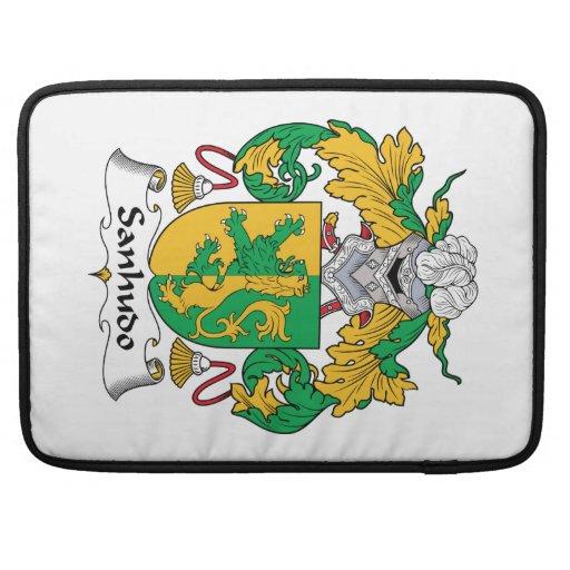 Escudo de la familia de Sanhudo Fundas Para Macbook Pro