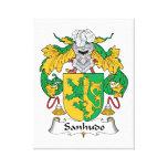 Escudo de la familia de Sanhudo Lona Estirada Galerías