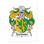 Escudo de la familia de Sanhudo Postales