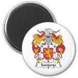 Escudo de la familia de Sanjurjo Imanes Para Frigoríficos