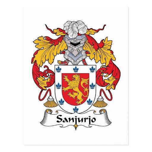Escudo de la familia de Sanjurjo Tarjetas Postales