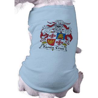 Escudo de la familia de Santa Cruz Camisetas De Perro