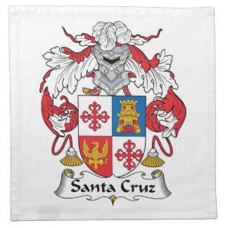 Escudo de la familia de Santa Cruz Servilletas De Papel