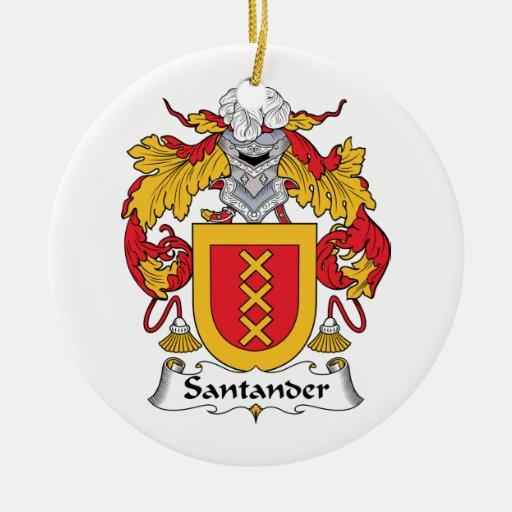 Escudo de la familia de Santander Adorno Navideño Redondo De Cerámica