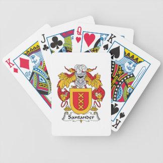 Escudo de la familia de Santander Baraja Cartas De Poker
