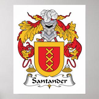 Escudo de la familia de Santander Impresiones