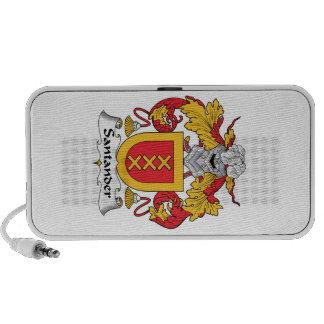 Escudo de la familia de Santander Laptop Altavoces