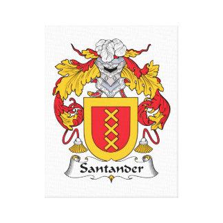 Escudo de la familia de Santander Impresiones En Lona