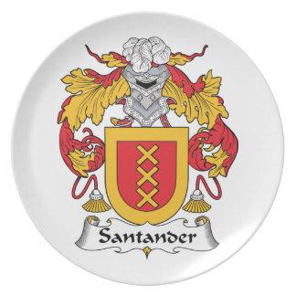 Escudo de la familia de Santander Platos