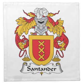 Escudo de la familia de Santander Servilleta De Papel