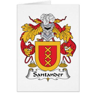 Escudo de la familia de Santander Tarjetón