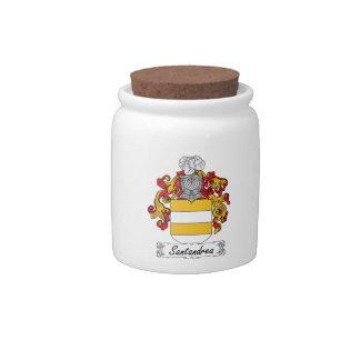 Escudo de la familia de Santandrea Plato Para Caramelo