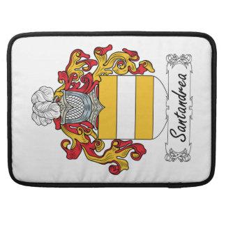 Escudo de la familia de Santandrea Funda Para Macbooks