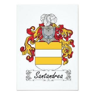 Escudo de la familia de Santandrea Invitación 12,7 X 17,8 Cm