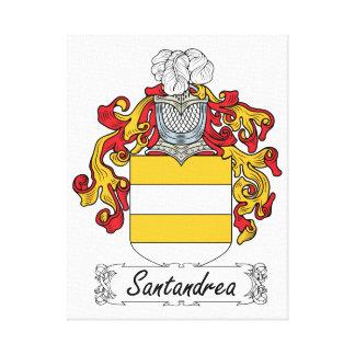 Escudo de la familia de Santandrea Impresión De Lienzo