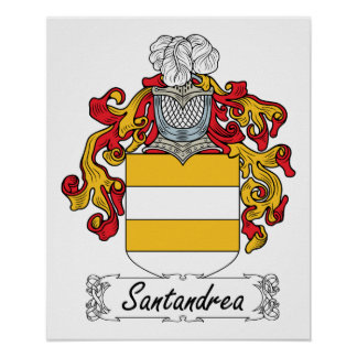 Escudo de la familia de Santandrea Posters