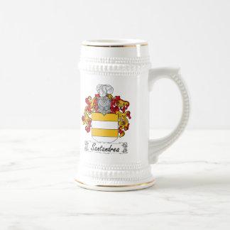 Escudo de la familia de Santandrea Jarra De Cerveza