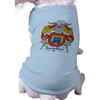 Escudo de la familia de Santillan Camisa De Mascota