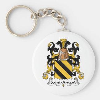 Escudo de la familia de Santo-Amand Llaveros Personalizados